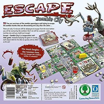 GWLTV Juego de Mesa -Escape Zombi Ciudad Inglés Juego de ...