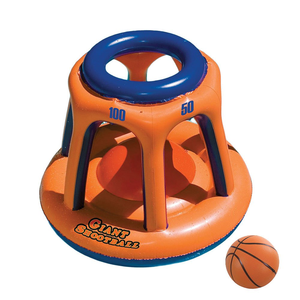 Swimline Giant Shootball Basketball Swimming Pool Game Toy, 2-Pack