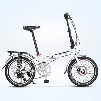 YEARLY Adultos bicicleta plegable, Bicicleta plegable Ultra light Portátil Velocidad 7 Shimano Aleación de aluminio
