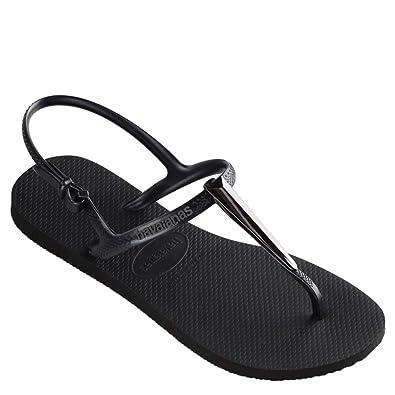 7ef948dd7bc338 Havaianas Women s Freedom SL Maxi Flip-Flops Black 35-36 M Bra