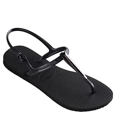 7674faeae393a4 Havaianas Women s Freedom SL Maxi Flip-Flops Black 35-36 M Bra