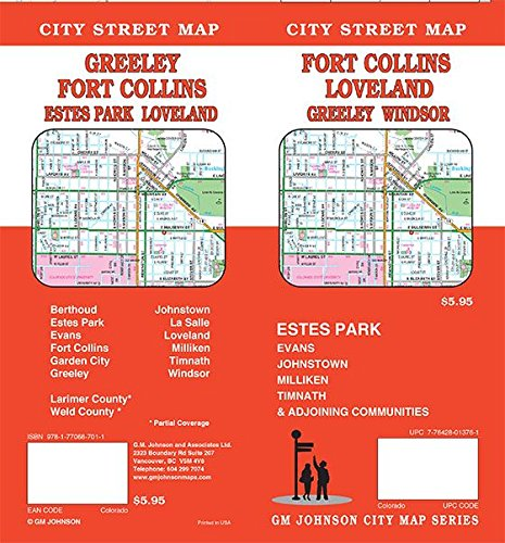 Fort Collins / Greeley / Loveland, Colorado Street Map