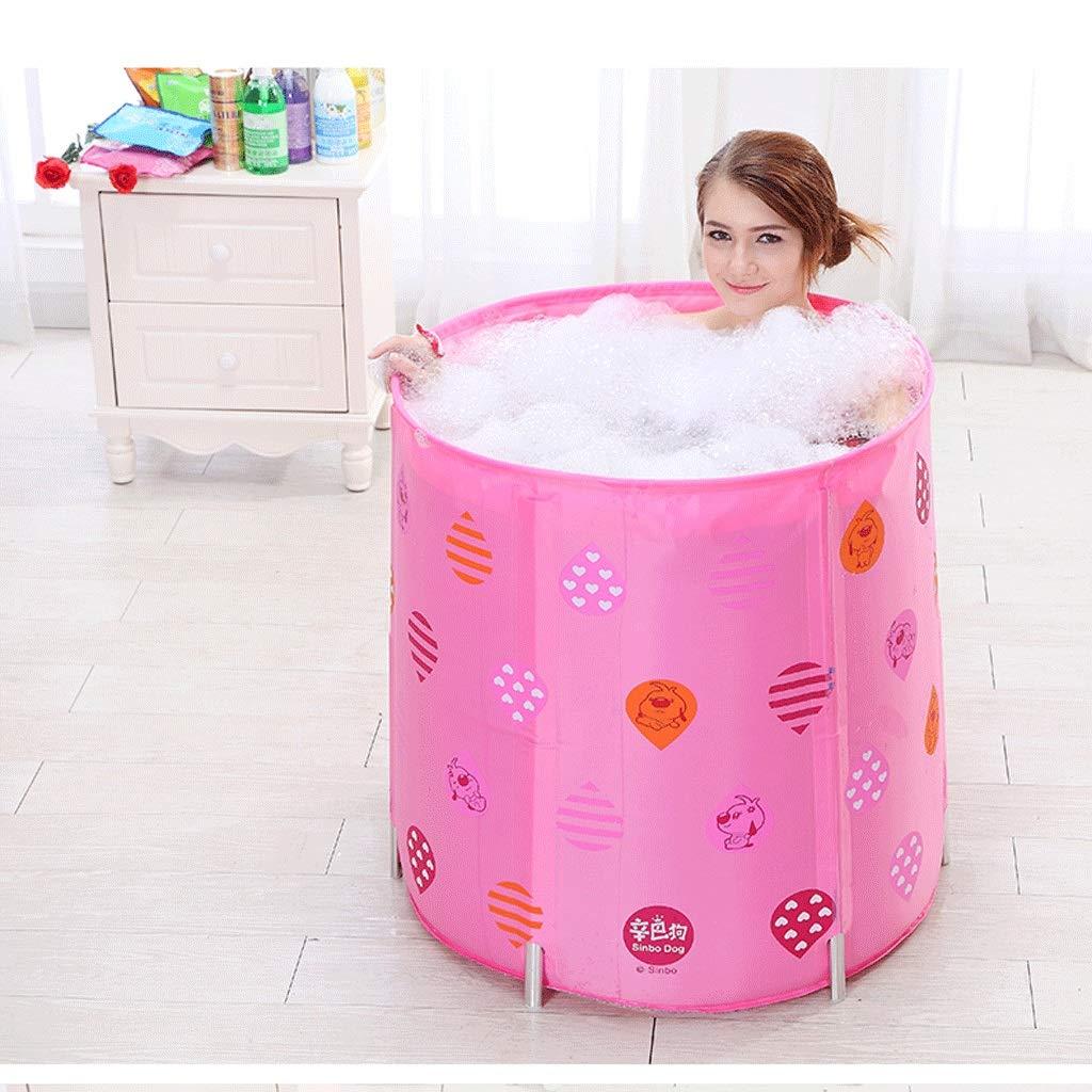 Folding Bathtub Folding Bathtub Thicken 7070 Barrel Bath Barrel Large Bathtub Plastic Bath Bucket Portable