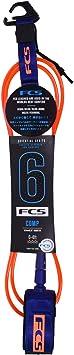 Leash Fcs 6' - 5, 5mm Essential Comp Laranja/azul