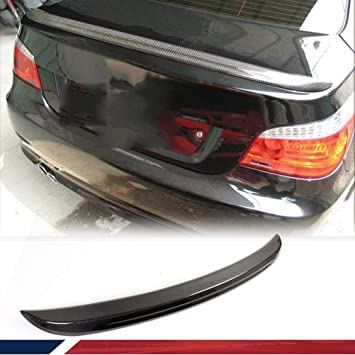 JC SPORTLINE fits for BMW E60 M5 2004-2009 Carbon Fiber Trunk Spoiler 5 Series Carbon Fiber Rear Wing Spoiler Boot Lid