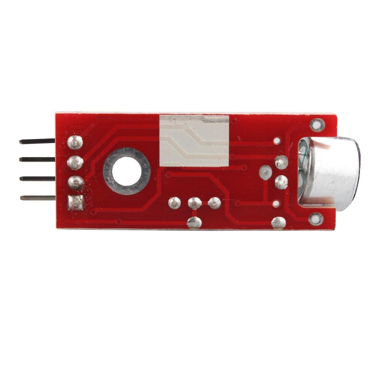 Haljia modulo sensore di rilevamento del suono vocale per microfono ad alta sensibilit/à per Raspberry Pi Arduino AVR PIC