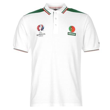 UEFA EURO 2016 Portugal - Polo, color blanco y verde de fútbol ...