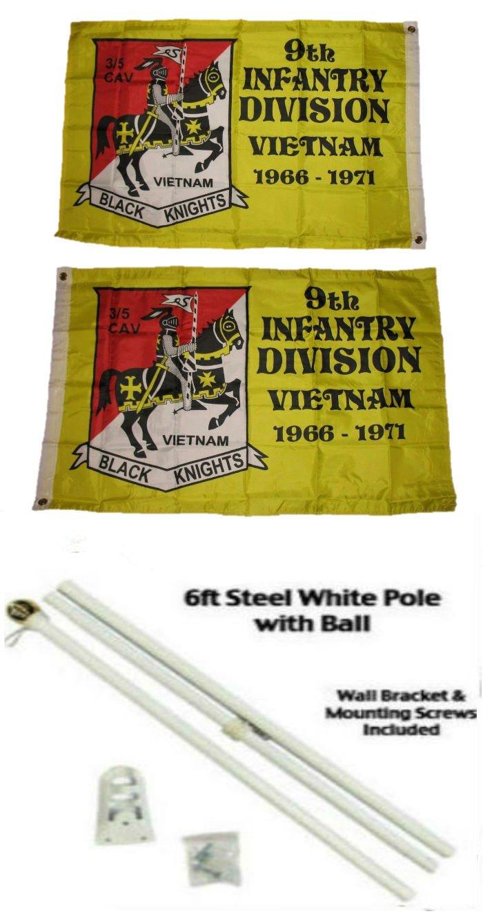 【新作入荷!!】 2 x 3 2 2 ' ' x3 3 ' 9th Infantry Division両面2plyフラグホワイトポールキットゴールドボールトップ B01N0UQ1O2, ミノカモシ:0b636cc6 --- refer.officeporto.com