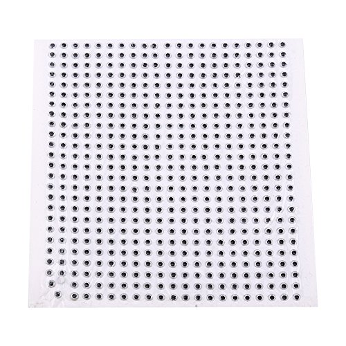 3D Fishing Eyes 500pcs Fishing Lure Eye Great Accessory For Make Fishing Bait,Fly Tying, Fishing Lures, Crafts (Silver, 4mm) ()