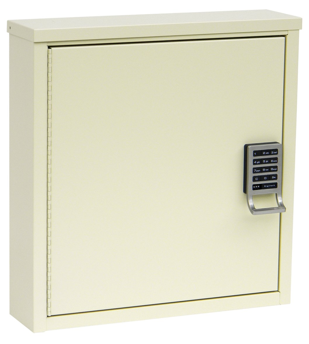 Single Door Patient Security Cabinet With E-Lock (16.75''H X 16''W X 4''D)