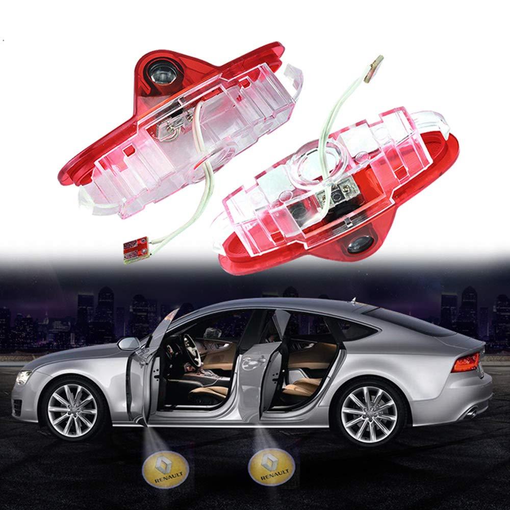 W205-BENZ logo ZHANGNA Installation facile Lampe dentr/ée d/éclairage de porte Projecteur de logo de porte de voiture Lumi/ères fant/ômes 2pcs