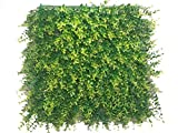 Artificial Hedge Plant Privacy Fence Screen Greenery Panels for Both Outdoor or Indoor, garden or backyard home decorations (48pack around 132 sqf) (20x20 inch artifical Ficus, 48PC)