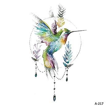 997f4e29dd0a6 Amazon.com : WYUEN 5 PCS Hummingbirds Women Body Temporary Tattoos Kids Fake  Tattoo Stickers Children Body Art 9.8X6cm (FA-217) : Beauty