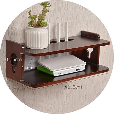Estante flotante Montado en la pared Router Wifi Estante / televisor Set-top Caja de almacenamiento Rack de almacenamiento de teléfono a prueba de agua Ranura para colgar en la pared Caja decorativa:
