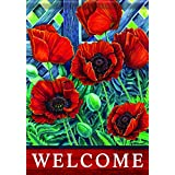 Carson Home Accents Flagtrends Classic Garden Flag, Scarlet Poppies