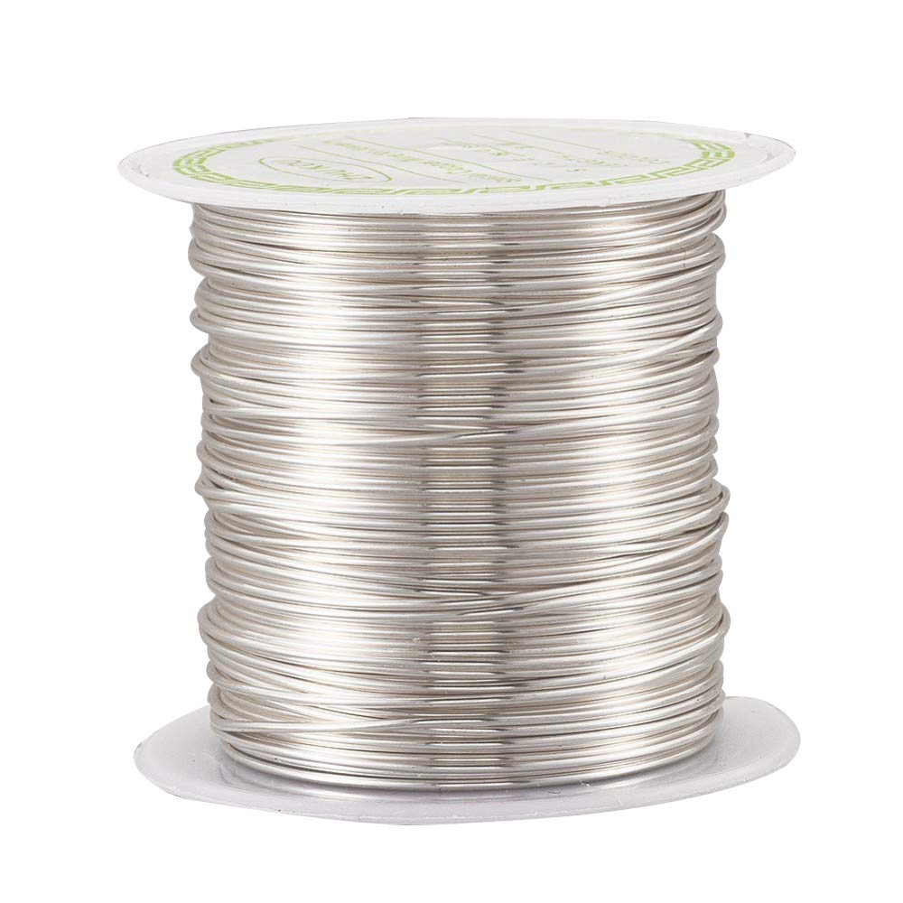 Silver Pandahall 236 Feet Tarnish Resistant Copper Wire 28 Gauge Jewelry Beading Craft Wire for Jewelry Making