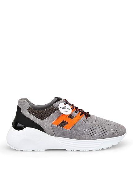 Hogan Hombre Hxm4430br10kxs683w Gris Gamuza Zapatillas: Amazon.es: Zapatos y complementos