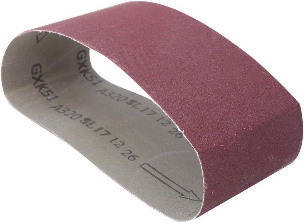 320 Cintur/ón de lijado abrasivo de 10 piezas papel de lija abrasivo de /óxido de aluminio de grano de 457x75 mm para lijadora de banda