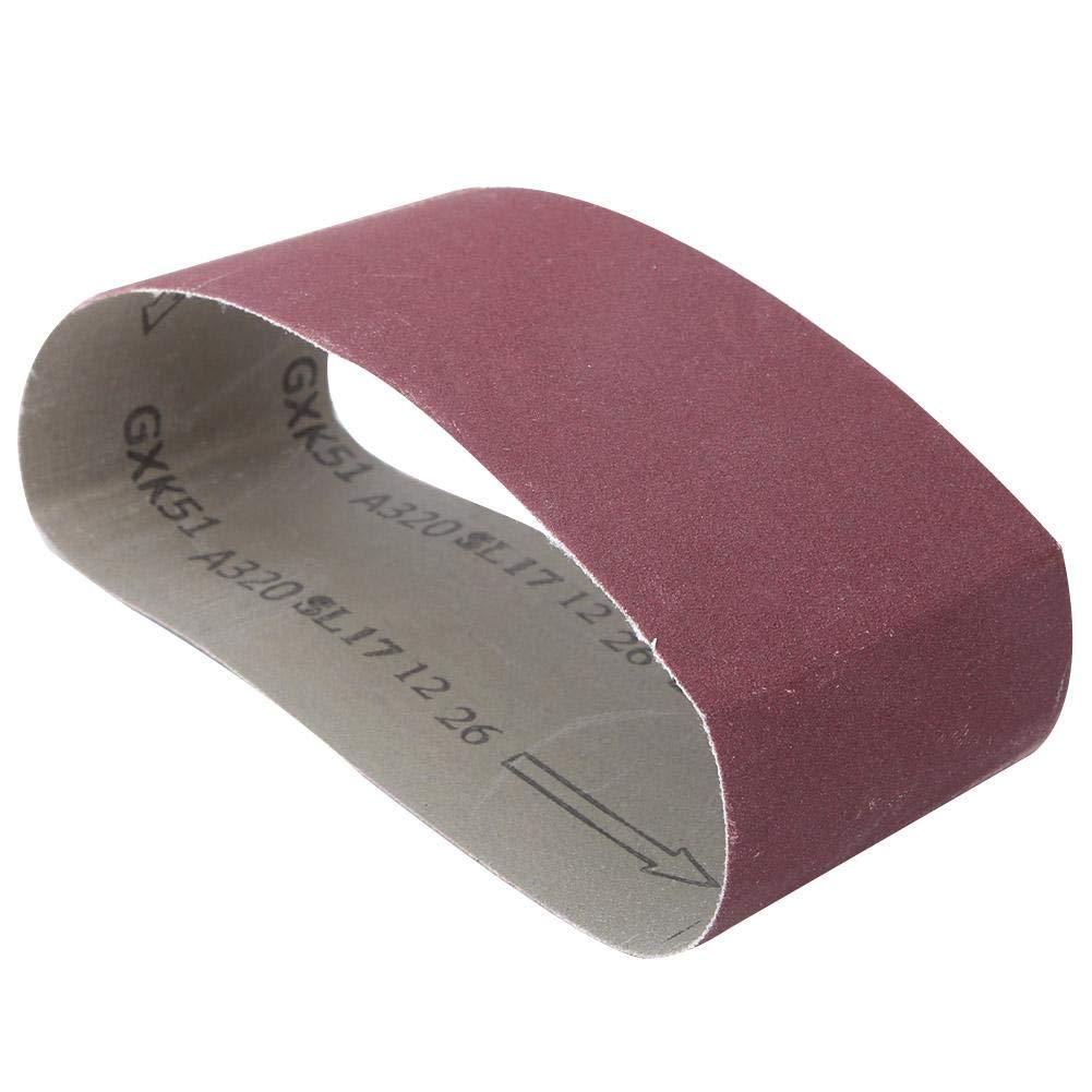 1000 10 St/ücke Schleifband Schleifband K/örner Schleifer Schleifband Aluminiumoxid Holzbearbeitung Metall Polieren f/ür Bandschleifer K/örner 457x75mm