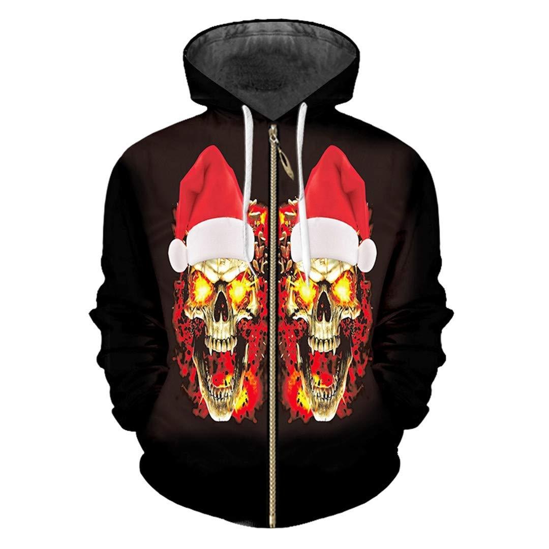 Sombrero de Navidad y Calavera de Llama Impreso en 3D Hip Hop Ropa ...