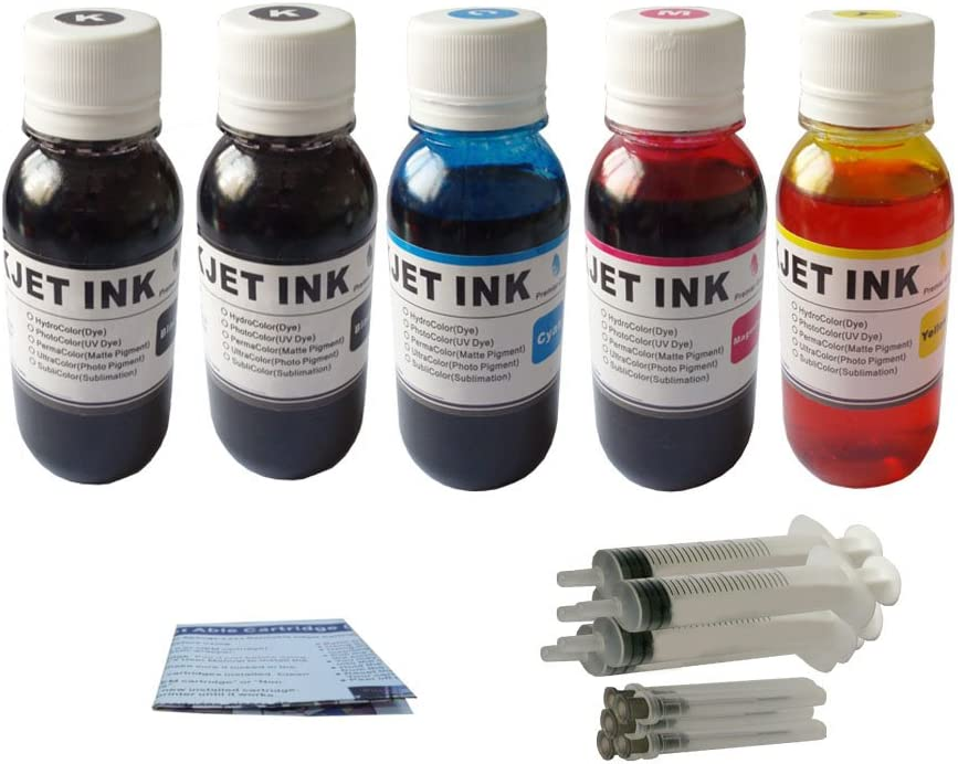 ND Brand Dinsink 20OZ(2x4oz BK+4oz C+4oz M+4oz Y) refill ink kit with syringes for HP 56 57 ink cartridge:PhotoSmart 7260w PhotoSmart 7350 PhotoSmart 7450 PhotoSmart 7450v PhotoSmart 7450xi PhotoSmart 7550 PhotoSmart 7660 PhotoSmart 7660v PhotoSmart 7660w PhotoSmart 7755 PhotoSmart 7760 PhotoSmart 7760v PhotoSmart 7760w PhotoSmart 7960 PhotoSmart 7960w...The item wiht ND Logo!