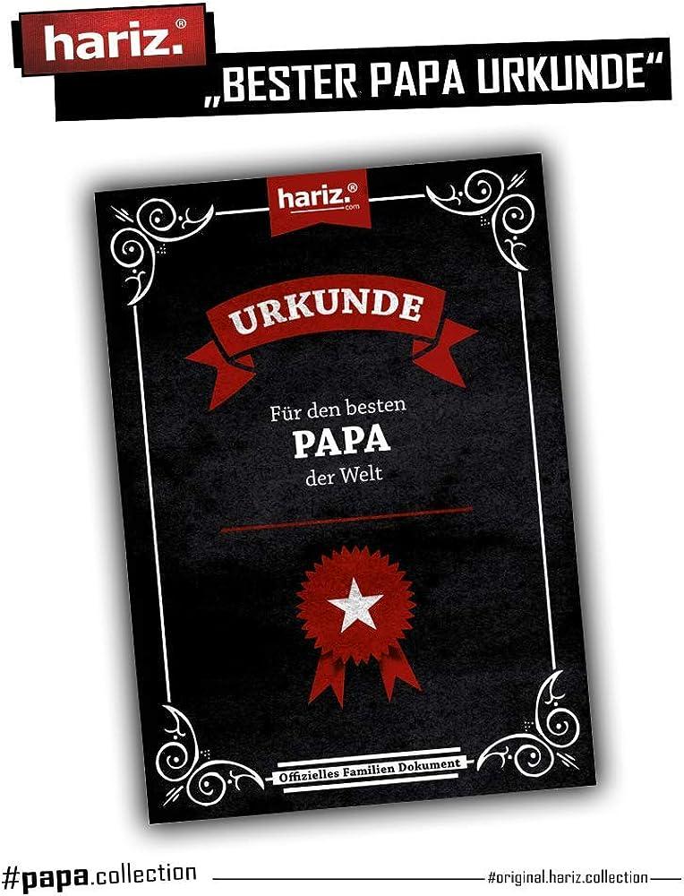 HARIZ Herren T-Shirt Papa Collection 36 Designs W/ählbar Schwarz Vatertag Weihnachten M/änner Geschenk Karte Urkunde