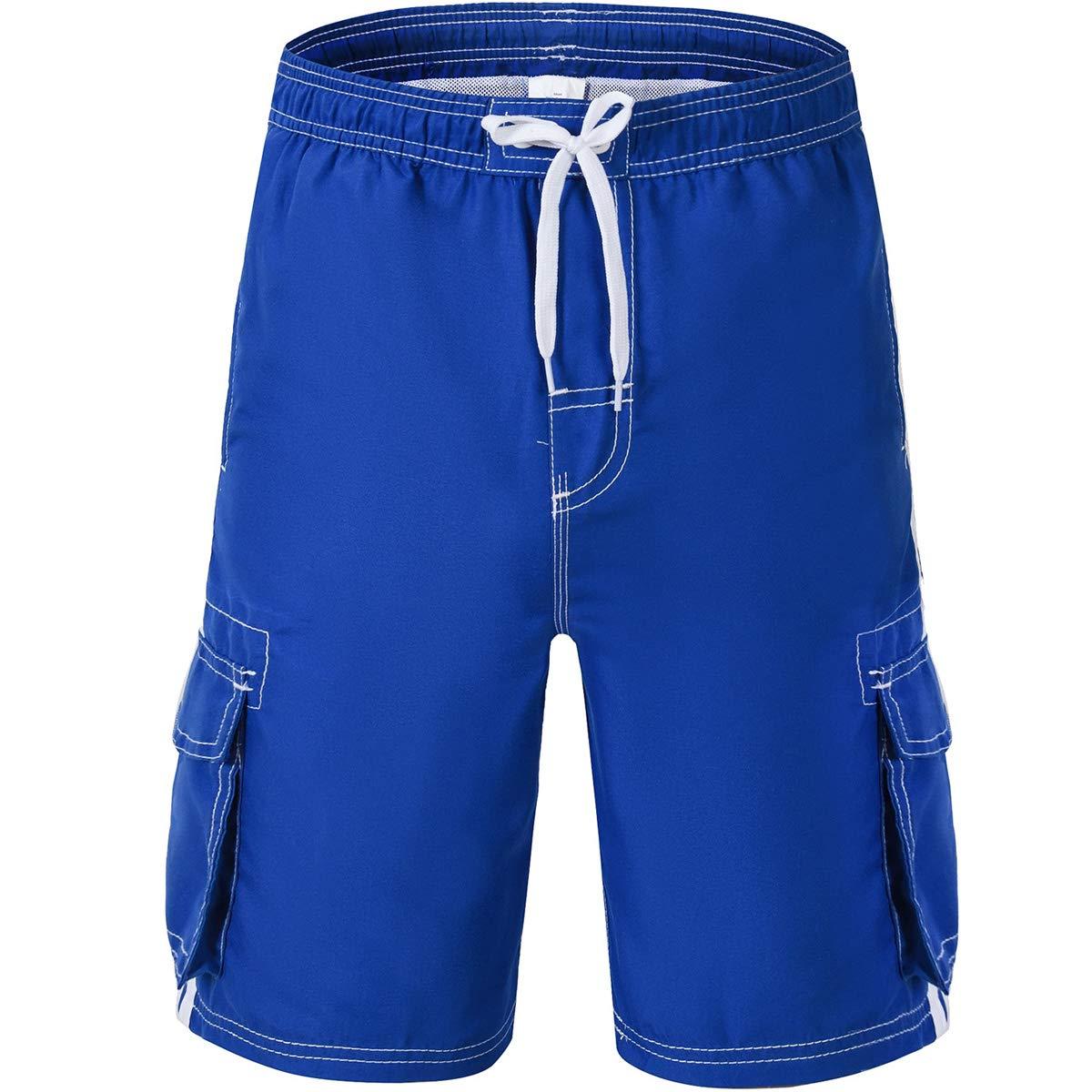 Akula Boys' Quick Dry Beach Board Shorts Swim Trunk with Pockets XTB1801-BOYS