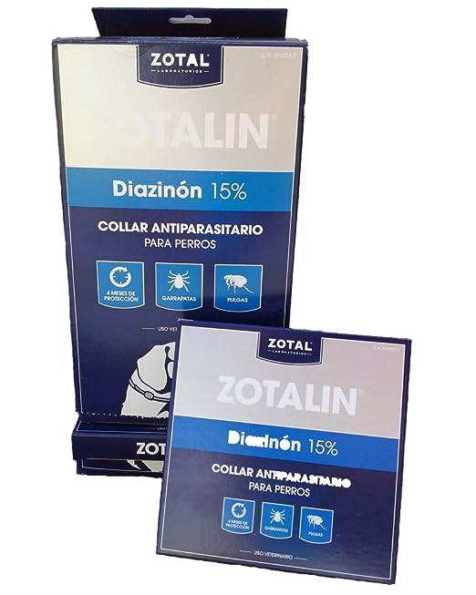 13 opinioni per ZOTALIN, COLLARE dewormers con il 15% pulci e zecche diazinone PER CANI 62 cm.