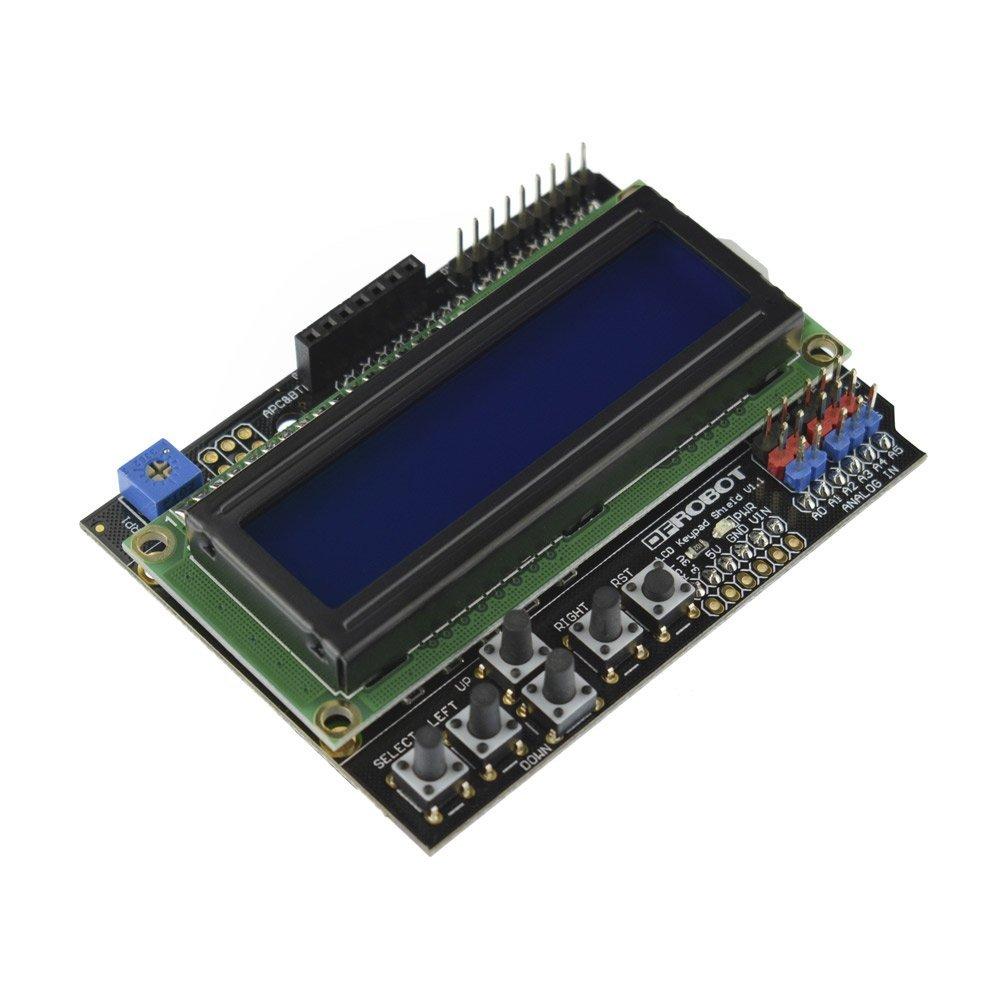 DFROBOT Gravity: 1602 LCD Keypad Shield For Arduino