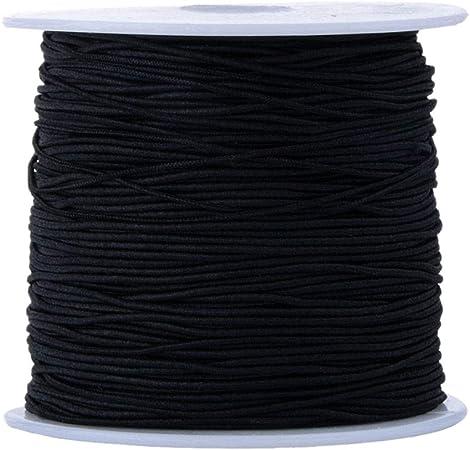 100 metros de hilo elástico negro de 0,8 mm de hilo elástico para ...