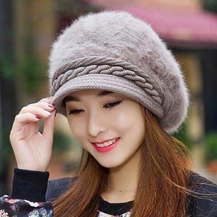 42ee81c23beb32 KAKA(TM) Women Girl Korean Stylish Peaked Cap Plush Winter Warm Hat:  Amazon.ca: Home & Kitchen