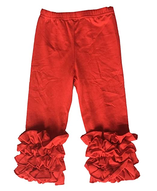 880db7a4c1ffa Amazon.com: Baby Girls Icing Ruffle Pant Solid Red: Clothing
