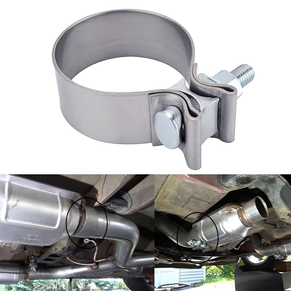 ESPEEDER 4''Stainless Steel Butt Joint Narrow Band Exhaust Seal Clamp with 1 Block
