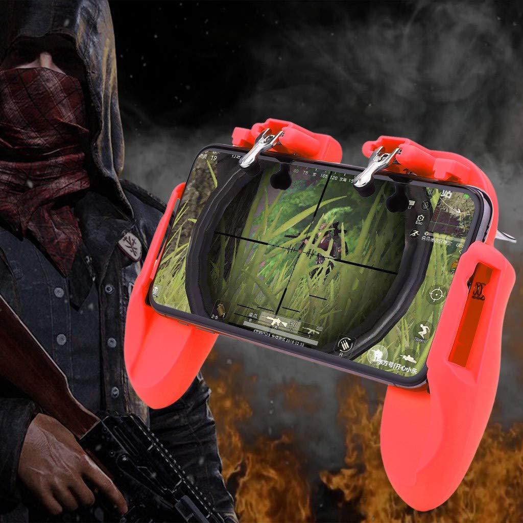 Fcostume Mobile Game Controller para PUBG 4 en 1 Gamepad disparo y disparador de llamadas de refrigeraci/ón Negro