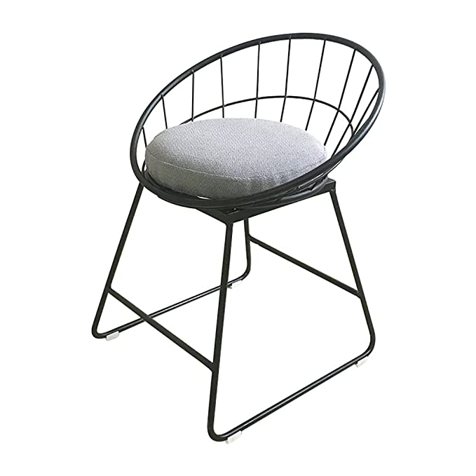 amazon bar stool with footrest round seat industrial style Renaissance Interior Decor amazon bar stool with footrest round seat industrial style kitchen breakfast counter conservatory pub color black size h45cm