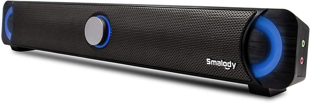 TaoTronics Computer Speakers Stereo USB Powered Mini Soundbar Speaker for PC Cellphone Tablets Desktop Laptop Wired Computer Sound Bar