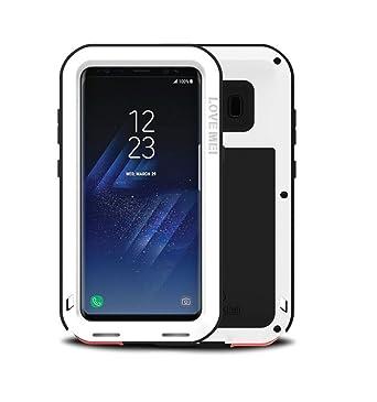 buy online 2f7c9 3d101 LOVE MEI Heave-Duty Case for Samsung Galaxy S8, Waterproof Shockproof  Dustproof Dirtproof Heavy Duty Aluminum Metal Case Hard Cover for Samsung  Galaxy ...