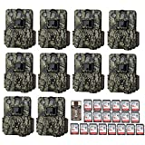 Browning Trail Cameras Ten Command Ops Pro Game Cameras (14MP, Camo) with 16GB Cards and Focus USB Reader