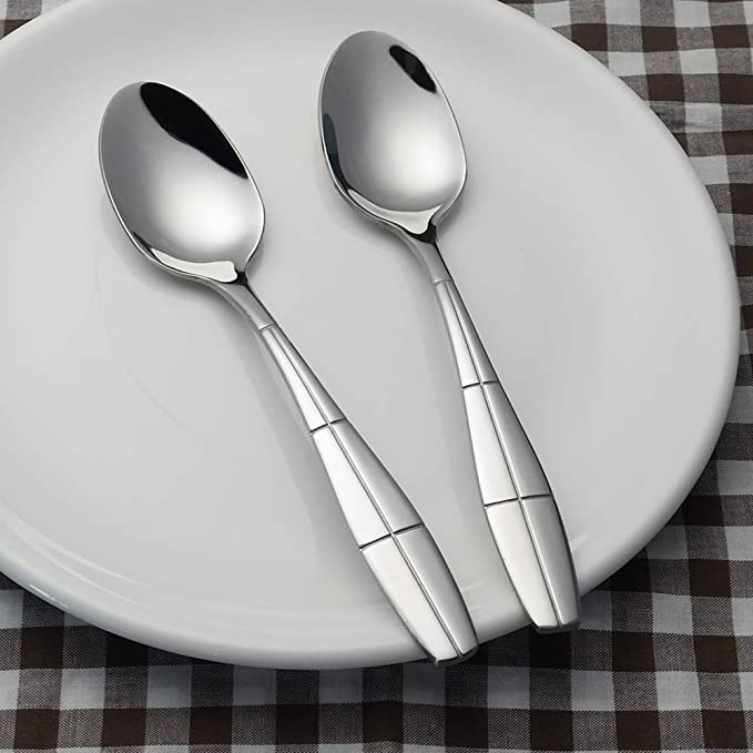 12 Pieces Ikando Stainless Steel Dessert Appetizer Cake Spoons