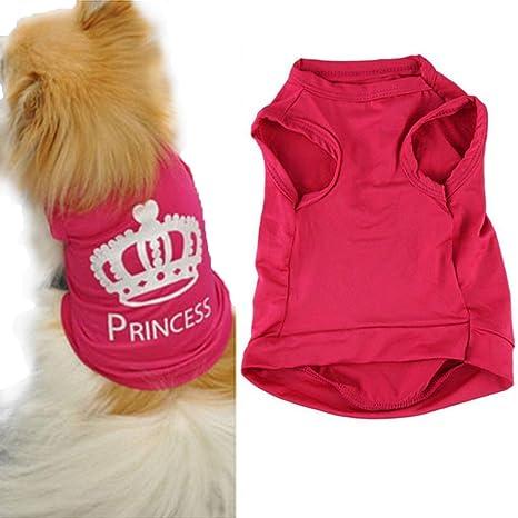 Xinantime Ropa para Perros,Xinan Mascotas Princesa Camiseta Chaleco Trajes de Puggy (XS)
