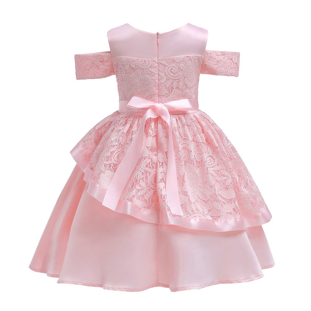 Lurryly Baby Girls Bridesmaid Dresses Party Dress Pageant Sundress Clothes Wedding Outfit 2-7T