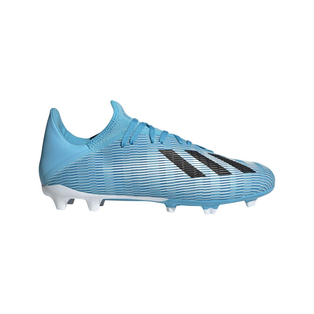 adidas Men's X 19.3 Firm Ground Soccer Shoe, Bright Cyan/Black/Shock Pink, 7.5 M US by adidas