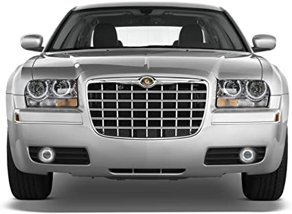 White LED Headlight Fog Halo Ring RF Kit for Chrysler 300 05-10