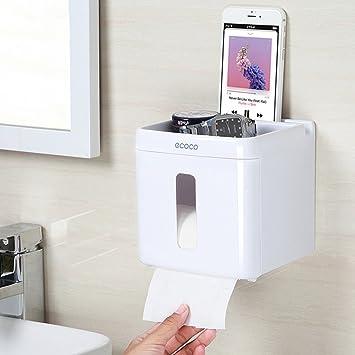 TY&WJ Portarrollos para papel higiénico Cuarto de baño Soporte para papel higiénico Rollo de papel de