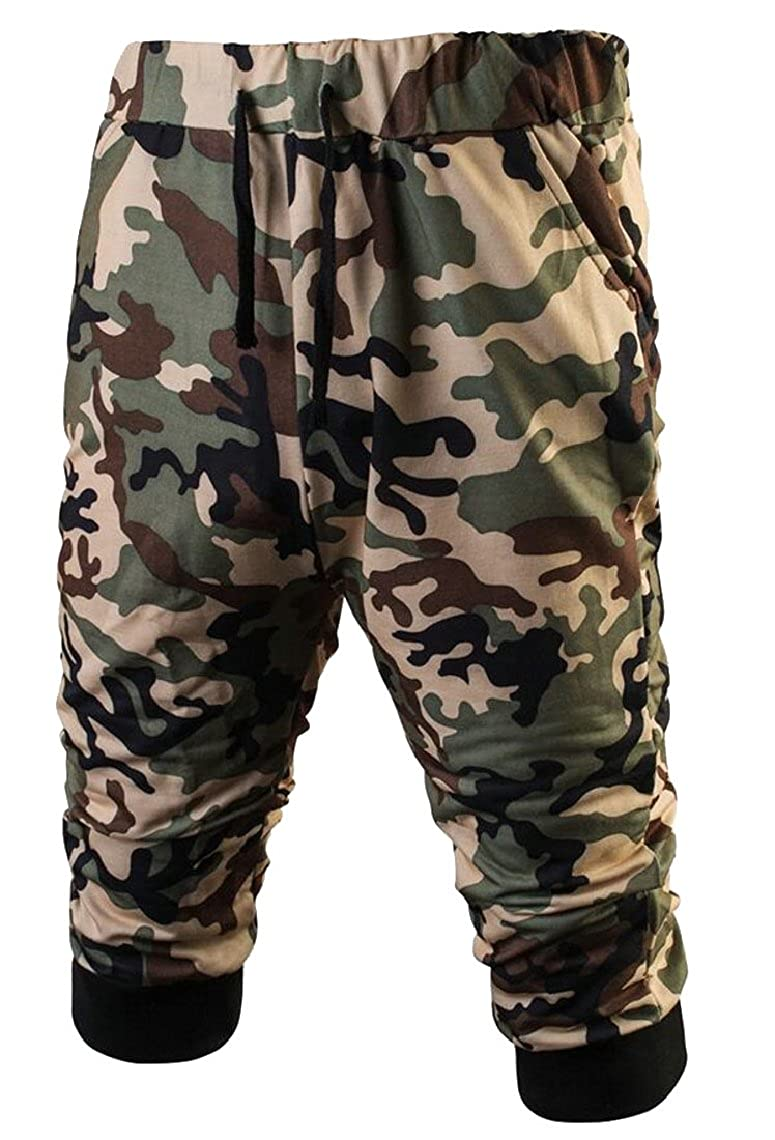 Yayu Mens Boardshorts Military Camouflage Baggy Bodybuilding Casual Capri Boardshorts
