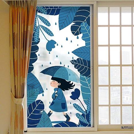 JJZZ Película para ventanas La película de Vidrio de Dibujos Animados se Puede Quitar para Obtener Pegatinas Decorativas de Ventana de Puerta corredera Opaca translúcida para niños: Amazon.es: Deportes y aire libre