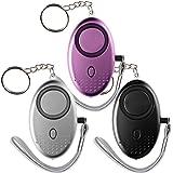Tian 4 Packs 130DB Alarma Personal llavero de Emergencia con ...