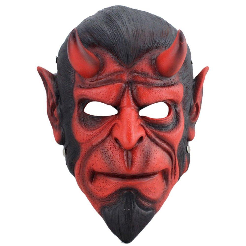 Víspera De Todos Los Santos De Halloween Viste A La Decoración Cos Play Play Prop Edición De Coleccionista Resina Hell Baron Mask