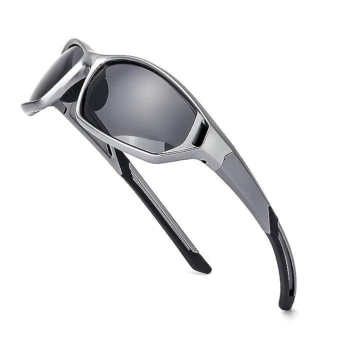 Deportivas Gafas de Sol Polarizadas Hombre Moderno Ultra Ligero para Golf Conducción Outdoor Pesca 100%
