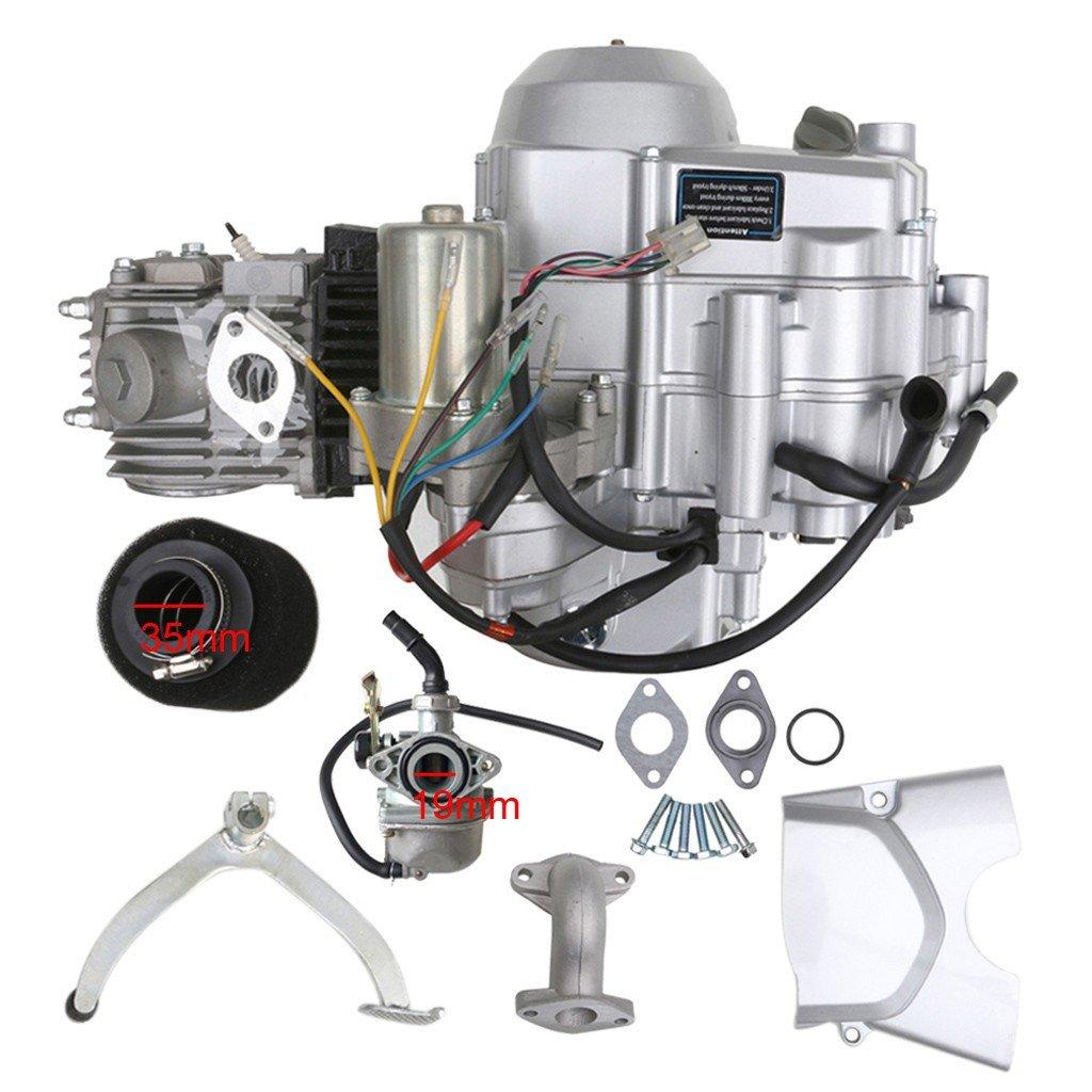 Amazon.com: TDPRO 125cc Engine 4 Stroke Motor Semi-Auto 3 Forward 1 Reverse  Gear for ATV 4 Wheelers Tricycle: Automotive